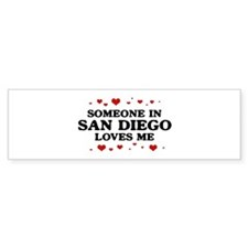 Loves Me in San Diego Bumper Bumper Sticker