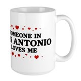 Loves Me in San Antonio Ceramic Mugs