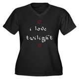 love twilight Women's Plus Size V-Neck Dark T-Shir