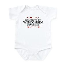 Loves Me in Wisconsin Infant Bodysuit
