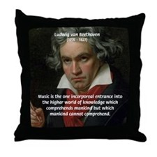 Classical Music: Beethoven Throw Pillow