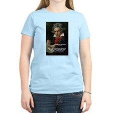 Classical Music: Beethoven Women's Pink T-Shirt