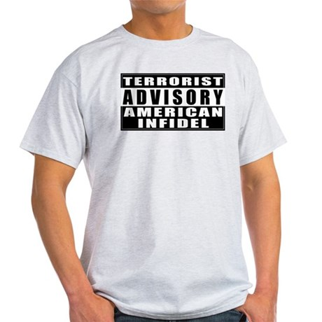 Advisory: American Infidel Ash Grey T-Shirt