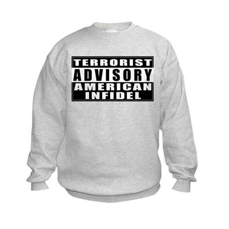 Advisory: American Infidel Kids Sweatshirt