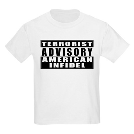 Advisory: American Infidel Kids T-Shirt