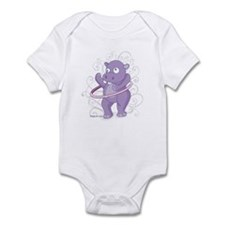 Purple Hippo Infant Bodysuit