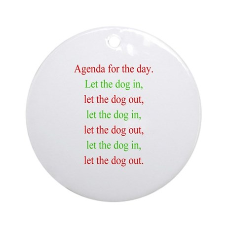 Christmas agenda Ornament (Round)