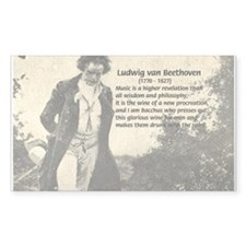 Ludwig van Beethoven Rectangle Decal