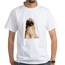 Tibetan Terrier portrait White T-shirt