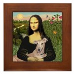 Mona Lisa / Greyhound #1 Framed Tile
