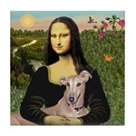 Mona Lisa / Greyhound #1 Tile Coaster