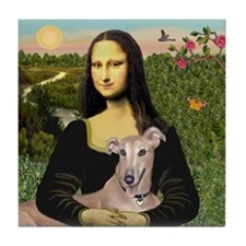 Mona Lisa / Greyhound #1 Tile Coaster