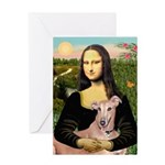 Mona Lisa / Greyhound #1 Greeting Card