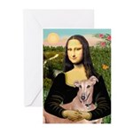Mona Lisa / Greyhound #1 Greeting Cards (Pk of 10)