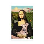 Mona Lisa / Greyhound #1 Sticker (Rectangle 50 pk)