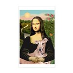 Mona Lisa / Greyhound #1 Sticker (Rectangle)