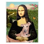 Mona Lisa / Greyhound #1 Small Poster