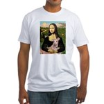 Mona Lisa / Greyhound #1 Fitted T-Shirt