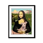 Mona Lisa / Greyhound #1 Framed Panel Print