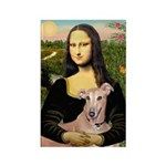 Mona Lisa / Greyhound #1 Rectangle Magnet