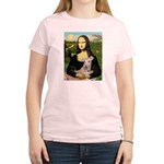Mona Lisa / Greyhound #1 Women's Light T-Shirt