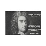 Irish Idealist: George Berkeley Rectangle Magnet (