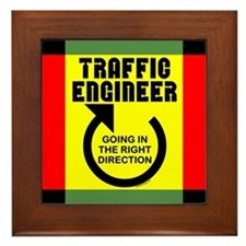 Traffic Engineer Direction Framed Tile