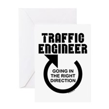 Traffic Engineer Direction Greeting Card