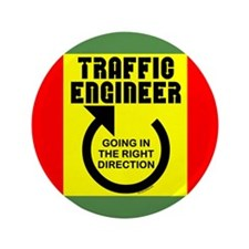 """Traffic Engineer Direction 3.5"""" Button (100 pack)"""