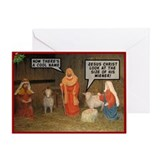 Offensive nativity scene Xmas Greeting Card