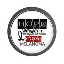 HOPE Melanoma 2 Wall Clock