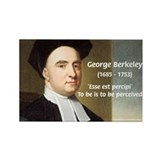 Philosopher: George Berkeley Rectangle Magnet (10