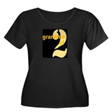GRANDMA 2 Women's Plus Size Scoop Neck Dark T-Shir