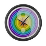 Color wheel Zen Large Wall Clock