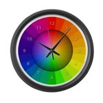 color wheel shades Large Wall Clock