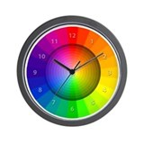 color wheel shades Wall Clock