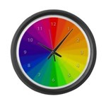 Color Wheel Large Wall Clock