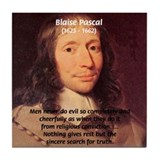 Mathematician: Blaise Pascal Tile Coaster