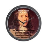 Mathematician: Blaise Pascal Wall Clock