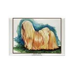 Lhasa Apso Painting Rectangle Magnet (100 pack)