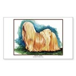 Lhasa Apso Painting Rectangle Sticker