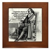 Mathematics: Blaise Pascal Framed Tile