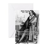 Mathematics: Blaise Pascal Greeting Cards (Package