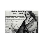 Mathematics: Blaise Pascal Rectangle Magnet (10 pa