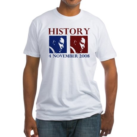 History 11-4-2008 Fitted T-Shirt