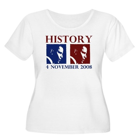 History 11-4-2008 Women's Plus Size Scoop Neck T-S