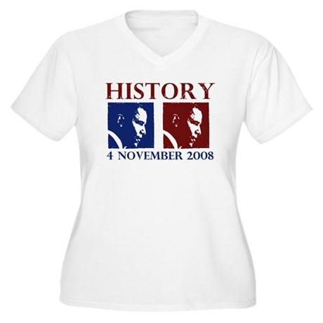 History 11-4-2008 Women's Plus Size V-Neck T-Shirt
