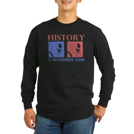 History 11-4-2008 Long Sleeve Dark T-Shirt