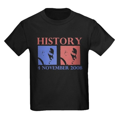 History 11-4-2008 Kids Dark T-Shirt
