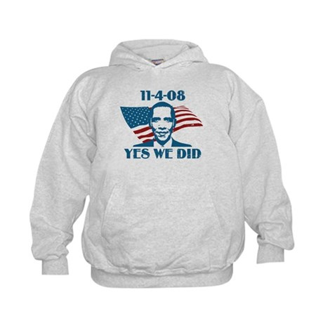 Yes We Did 11-4-2008 Kids Hoodie